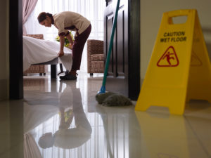 hotel maid cleaning
